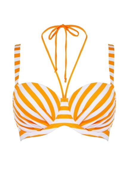 "Bandeau Bikinitop ""Sunny Stripes"" | orange"
