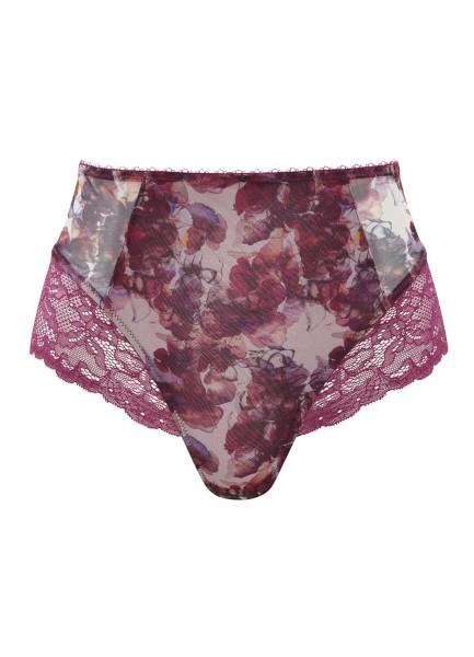 Taillenslip weinrot rosa Jasmine Detail
