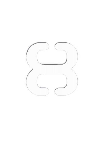 Trägerclips weiß | detail