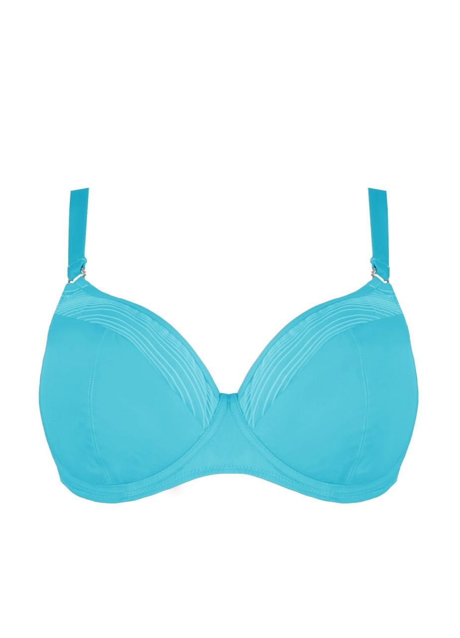 Bademode - Bikini Top mit Softschalen California Girl – aqua  - Onlineshop Miracle Woman