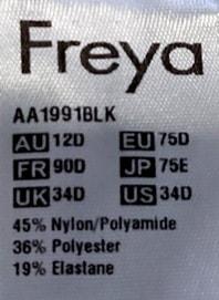 Freya Größentabelle Top