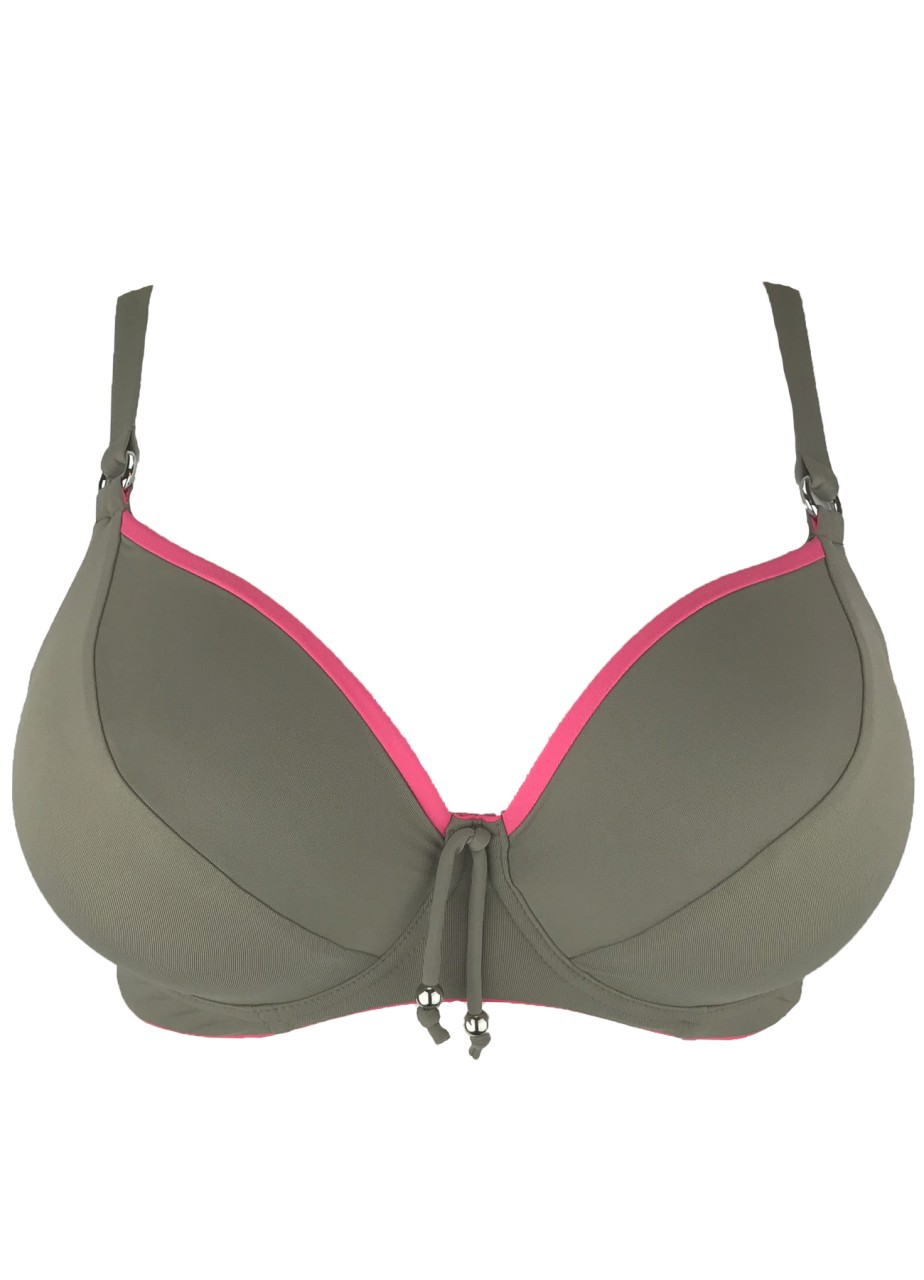 Bikini Top ´´Barbados´´ | taupe / rosa