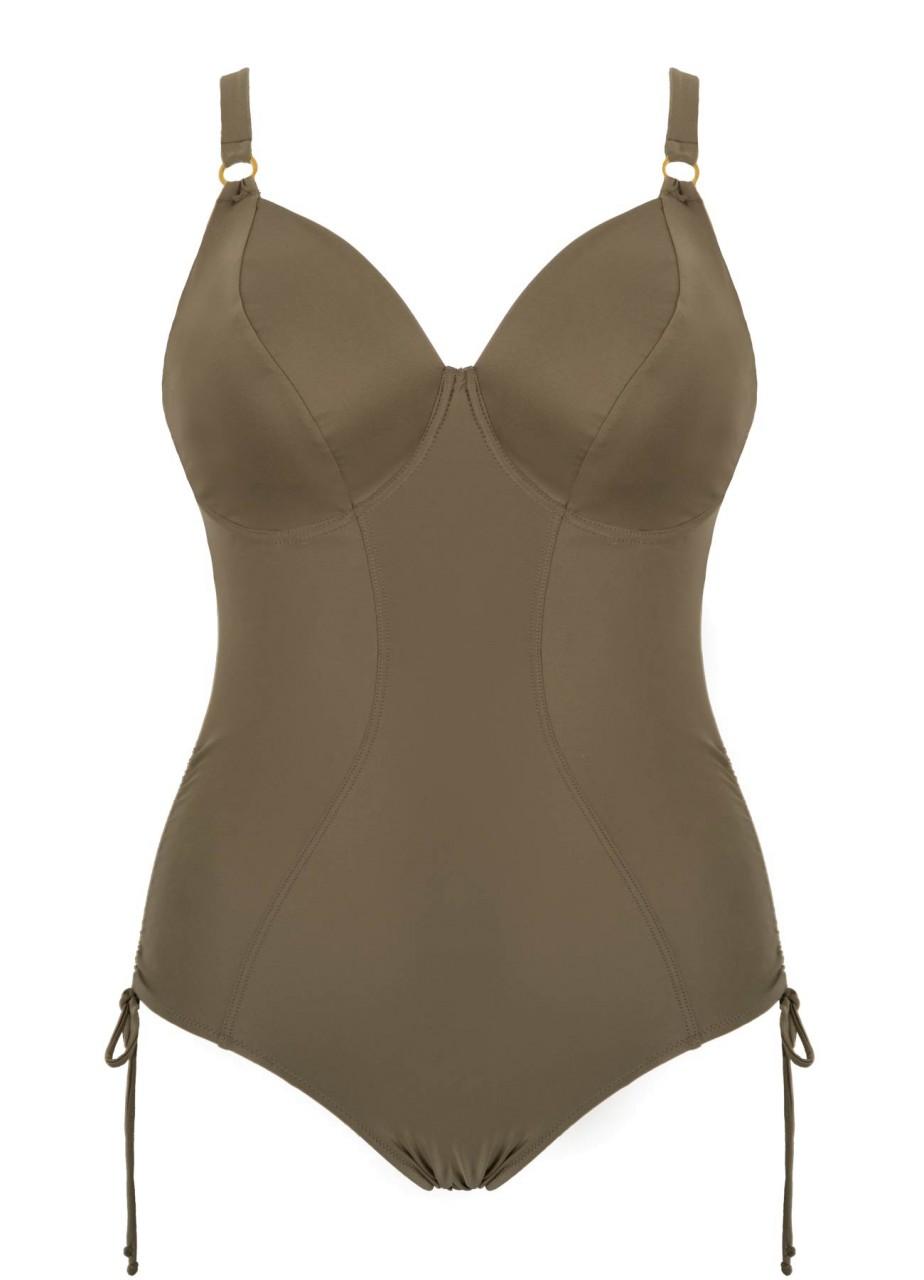 Bademode - Minimizer Badeanzug Swim – oliv  - Onlineshop Miracle Woman