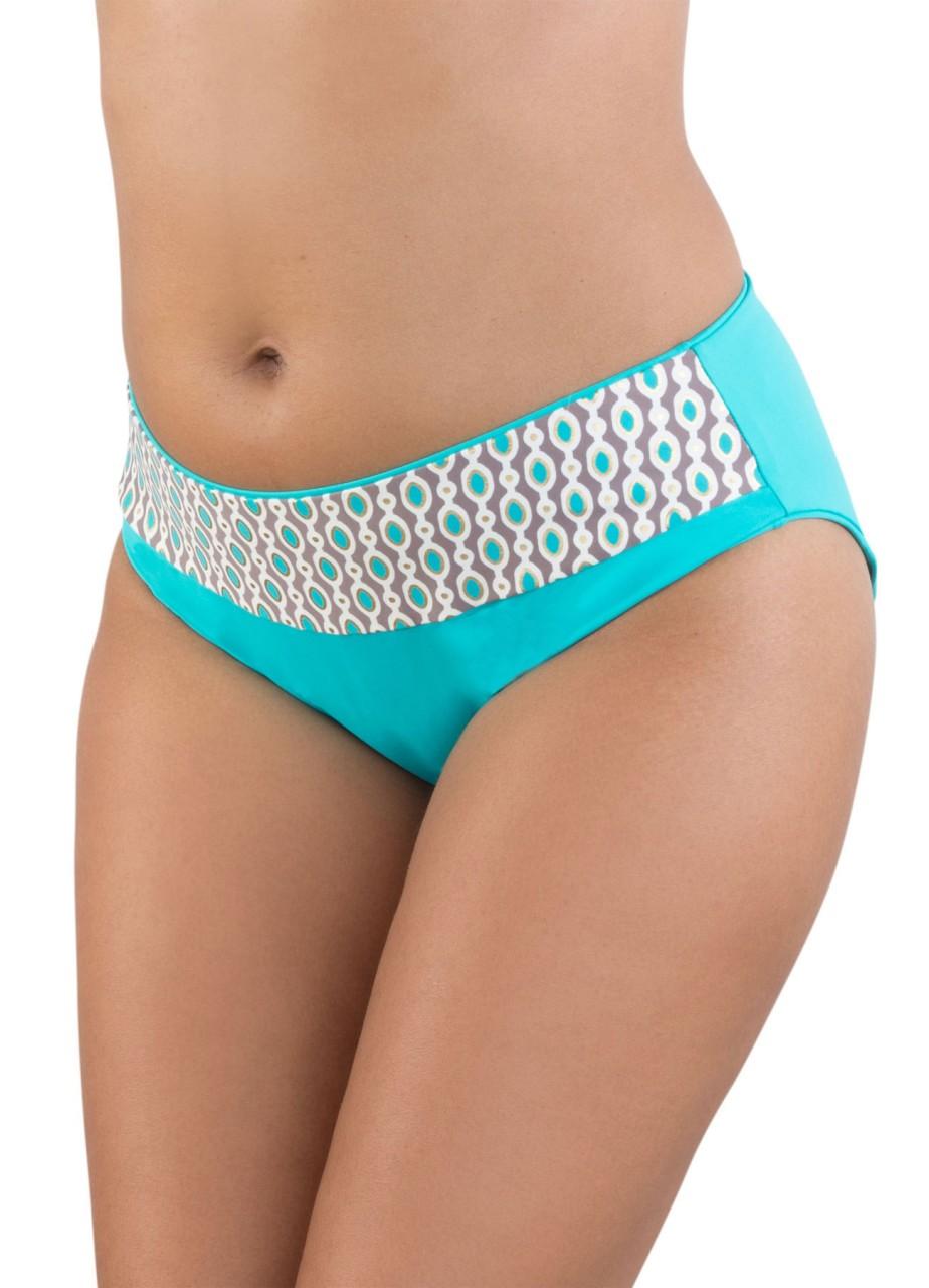 Bademode - Bikini Slip Marisol – türkis gold  - Onlineshop Miracle Woman