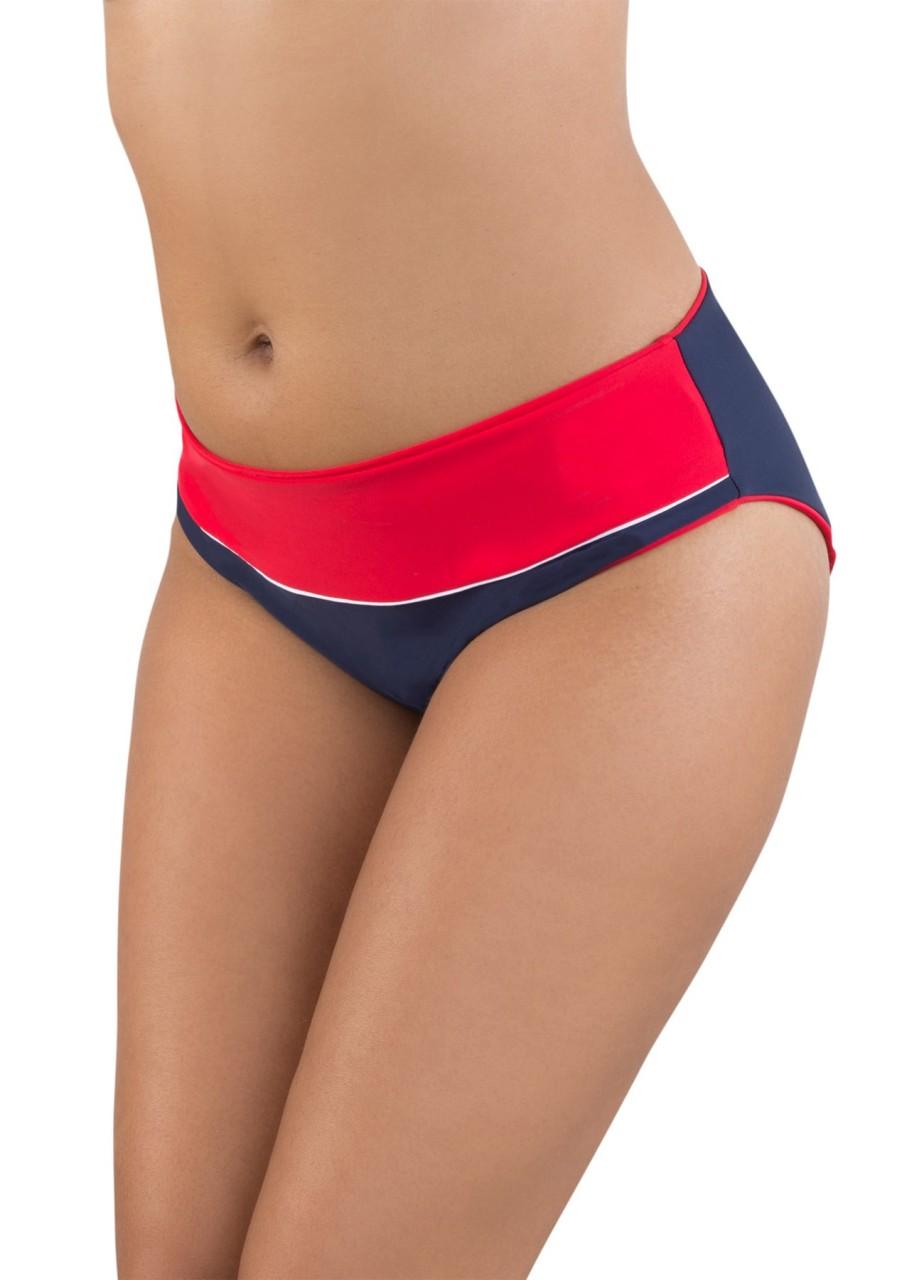 Bademode - Bikini Slip Barbados Nautica – marine rot weiß  - Onlineshop Miracle Woman