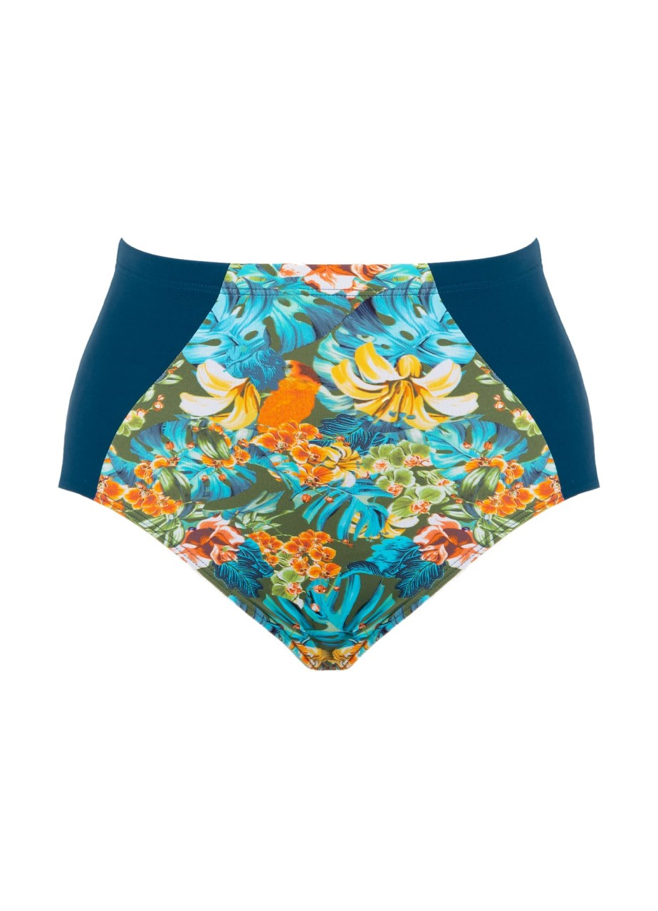 Bademode - High Waist Slip Lush – ocean multicolor  - Onlineshop Miracle Woman